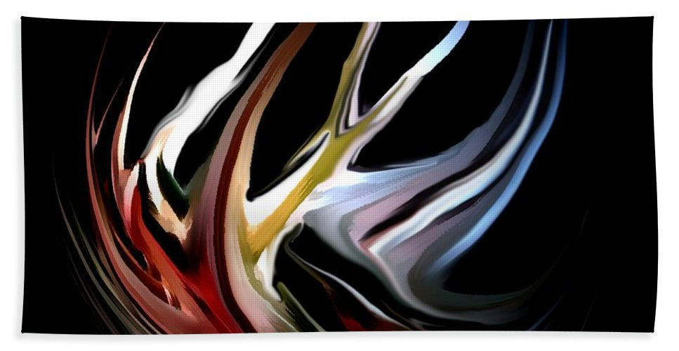 Abstract Hand Towel featuring the digital art Abstract 07-26-09-c by David Lane