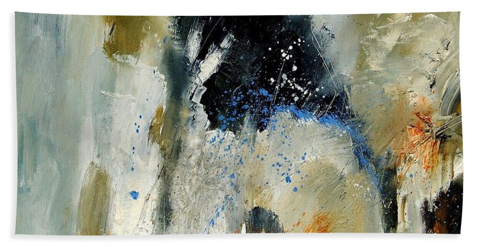 Abstarct Hand Towel featuring the painting Abstract 070808 by Pol Ledent