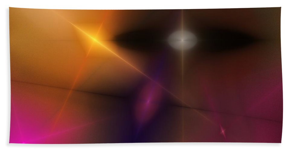 Abstract Bath Sheet featuring the digital art Abstract 071710 by David Lane