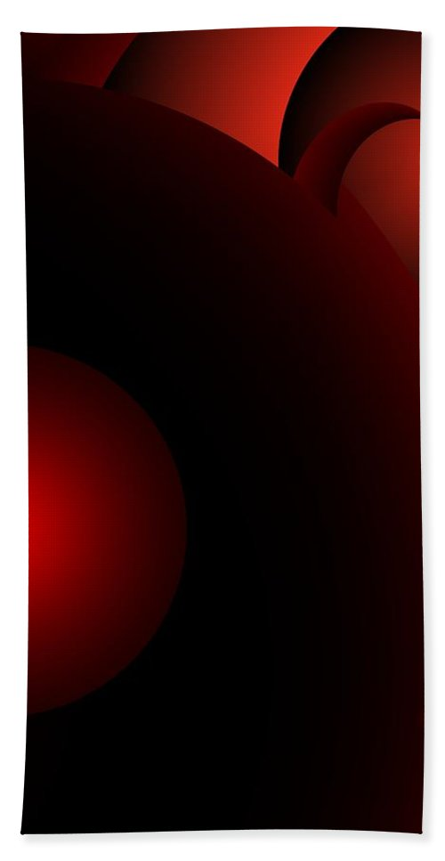Abstract Hand Towel featuring the digital art Abstract 072110 by David Lane