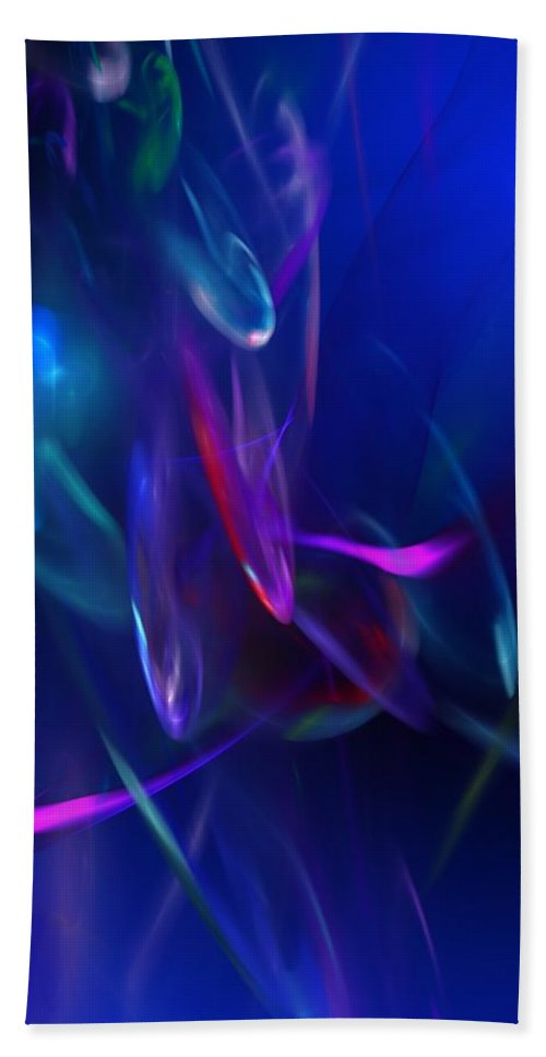 Abstract Hand Towel featuring the digital art Abstract 072610 by David Lane