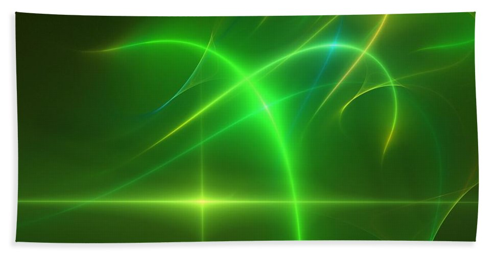 Abstract Bath Sheet featuring the digital art Abstract 081210 by David Lane