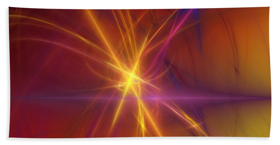 Abstract Hand Towel featuring the digital art Abstract 081210a by David Lane