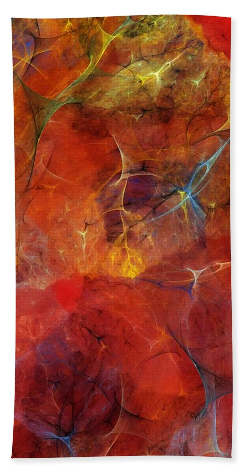 Abstract Hand Towel featuring the digital art Abstract 081310 by David Lane