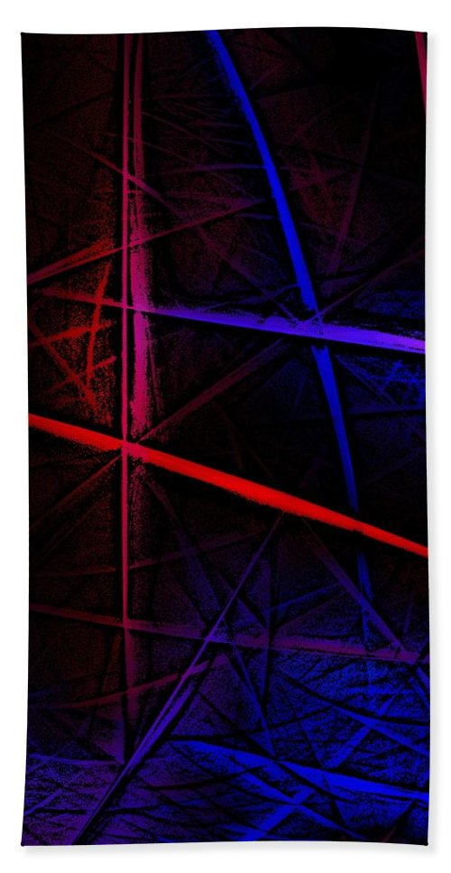 Abstract Hand Towel featuring the digital art Abstract 081410 by David Lane