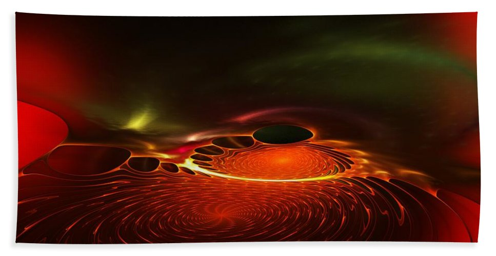 Abstracts Bath Sheet featuring the digital art Abstract 081410a by David Lane