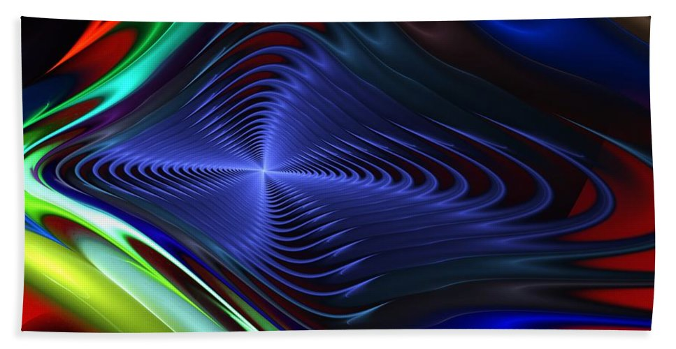 Fine Art Bath Sheet featuring the digital art Abstract 081510 by David Lane