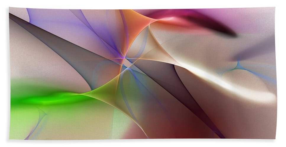 Fine Art Hand Towel featuring the digital art Abstract 082710 by David Lane