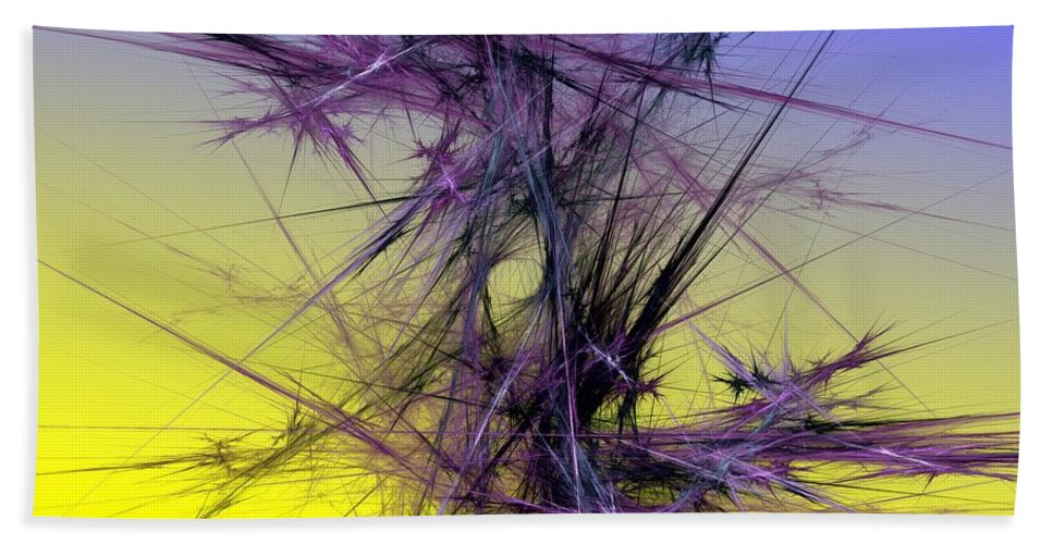 Abstract Digital Painting Bath Sheet featuring the digital art Abstract 10-08-09 by David Lane