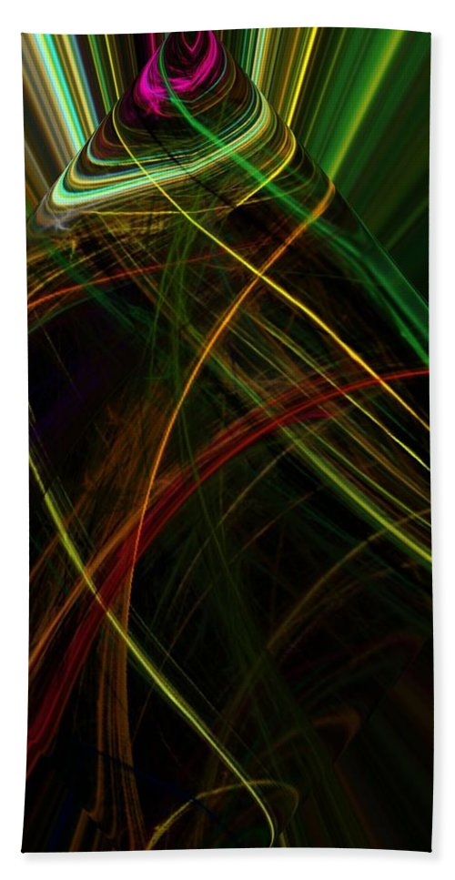 Abstract Digital Painting Bath Towel featuring the digital art Abstract 10-16-09 by David Lane