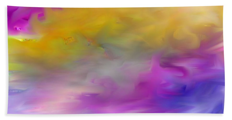 Abstract Bath Sheet featuring the digital art Abstract 101410 by David Lane