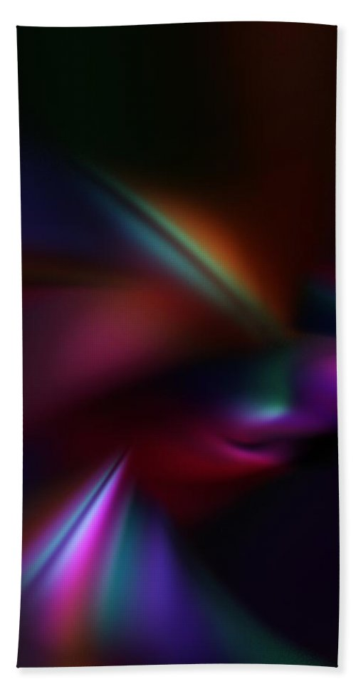 Abstract Digital Painting Bath Towel featuring the digital art Abstract 11-08-09 by David Lane