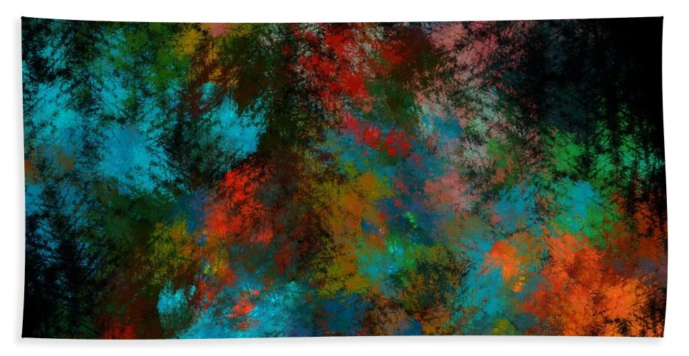 Abstract Digital Painting Hand Towel featuring the digital art Abstract 11-18-09 by David Lane