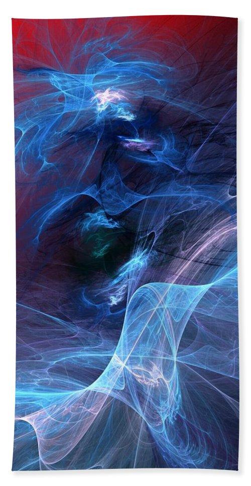 Fine Art Digital Art Hand Towel featuring the digital art Abstract 111610 by David Lane