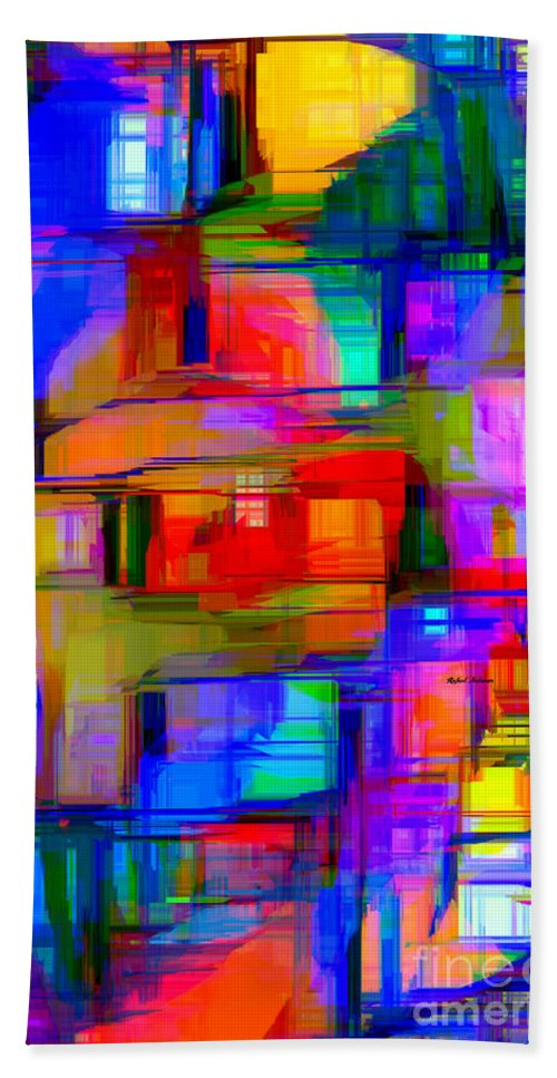 Rafael Salazar Hand Towel featuring the digital art Abstract 1293 by Rafael Salazar