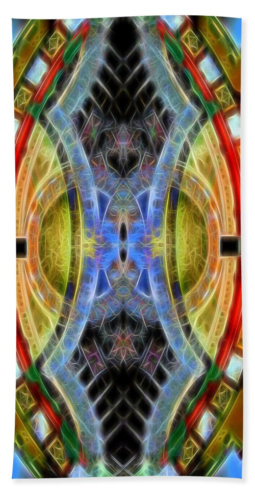 Hand Towel featuring the digital art Abstract 14 by Cathy Anderson