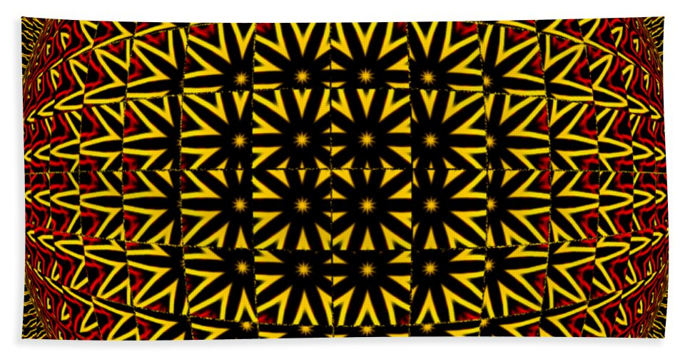 Abstract Hand Towel featuring the digital art Abstract 442 by Kristalin Davis