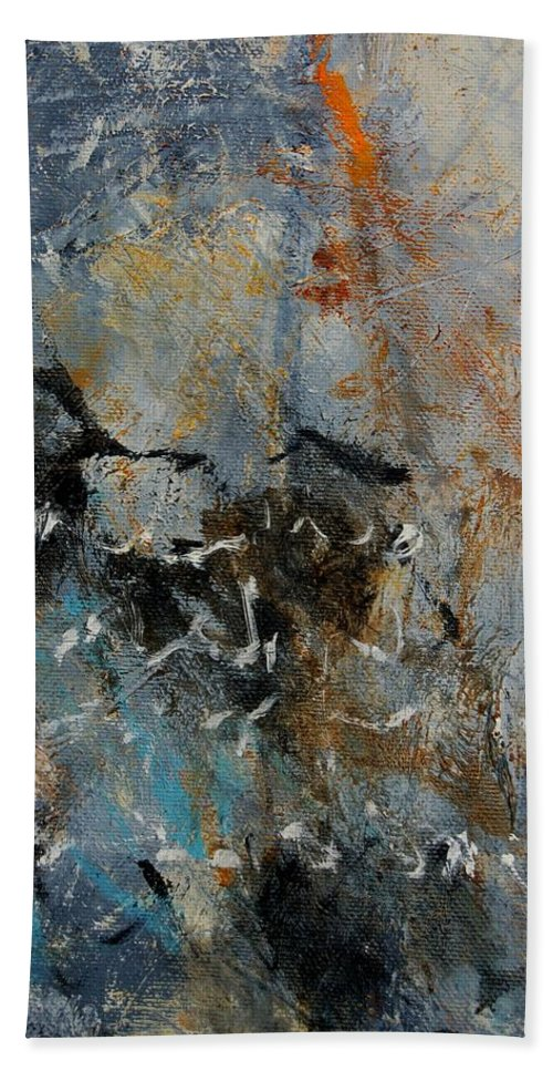 Abstract Hand Towel featuring the painting Abstract 4526987 by Pol Ledent