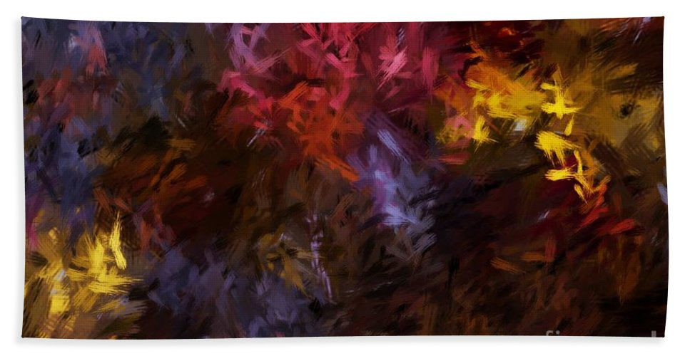 Abstract Hand Towel featuring the digital art Abstract 5-23-09 by David Lane