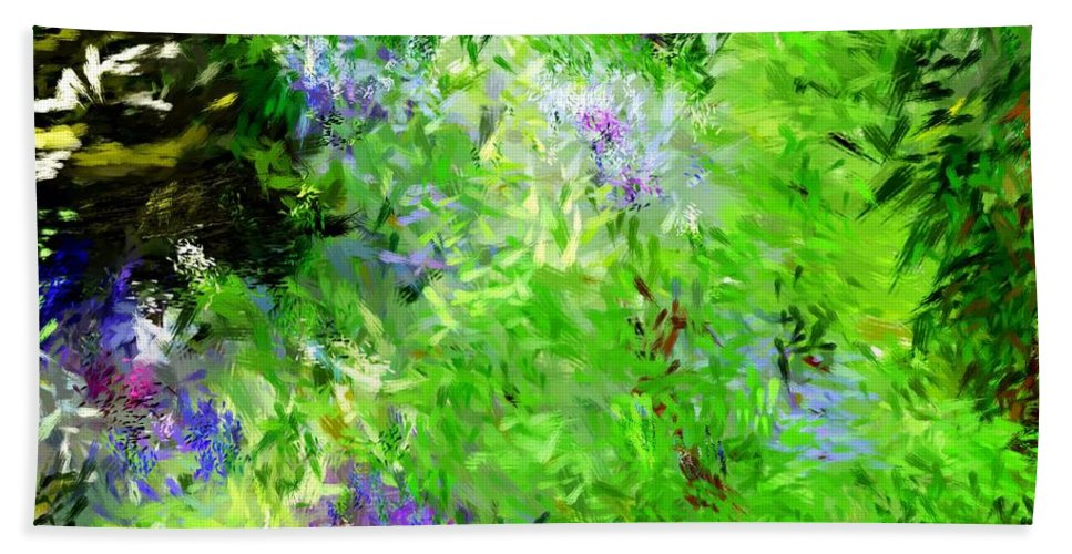 Abstract Hand Towel featuring the digital art Abstract 5-26-09 by David Lane