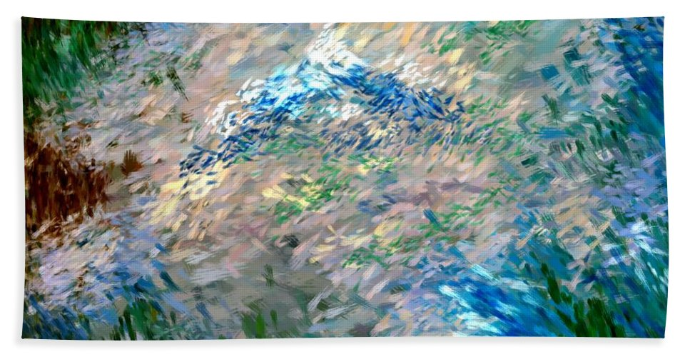Abstract Hand Towel featuring the digital art Abstract 6-03-09 A by David Lane
