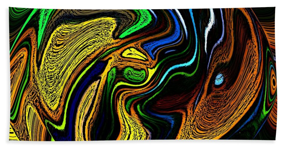 Abstract Bath Sheet featuring the digital art Abstract 6-10-09-a by David Lane