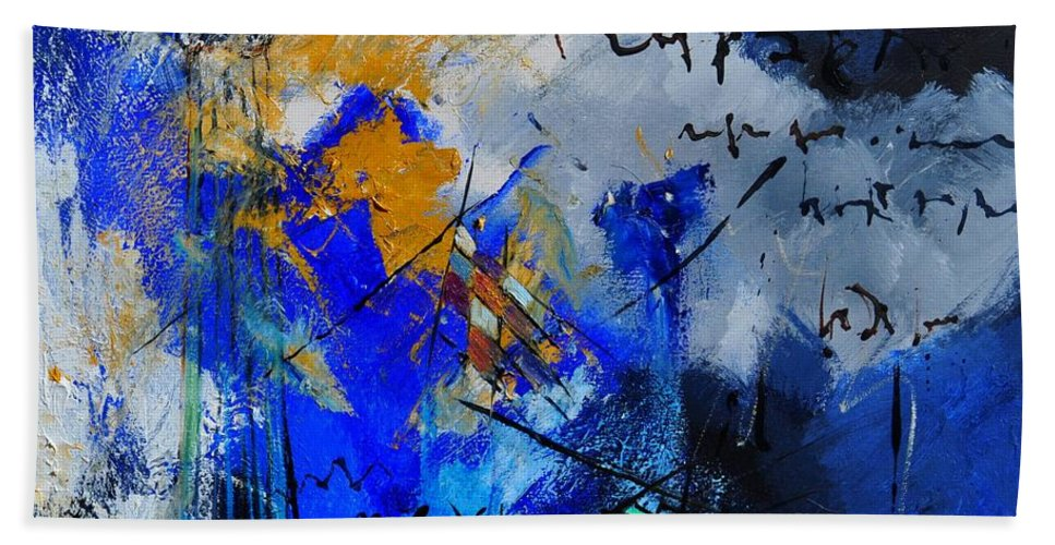 Abstract Bath Sheet featuring the painting Abstract 6611701 by Pol Ledent