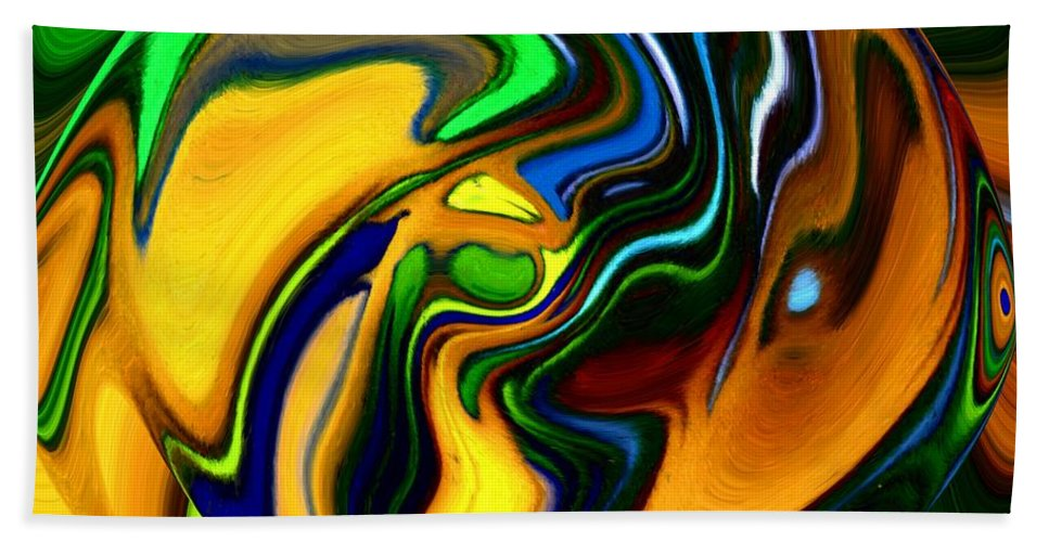 Abstract Bath Sheet featuring the digital art Abstract 7-10-09 by David Lane