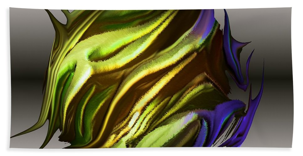 Abstract Bath Sheet featuring the digital art Abstract 7-26-09-a by David Lane