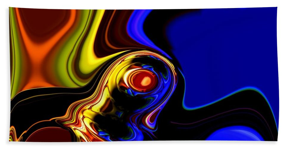 Abstract Bath Towel featuring the digital art Abstract 7-26-09 by David Lane