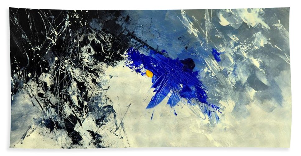 Abstract Bath Sheet featuring the painting Abstract 8811301 by Pol Ledent