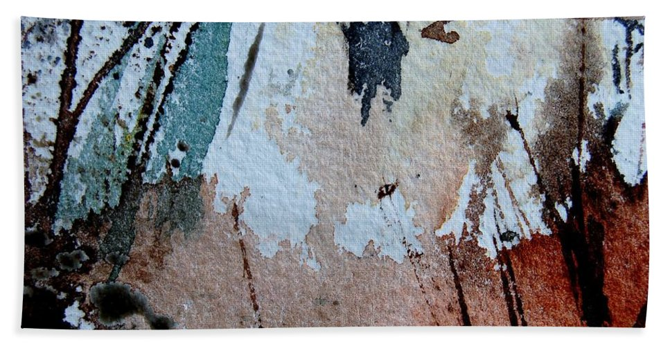 Abstract Hand Towel featuring the painting Abstract 9036 by Pol Ledent