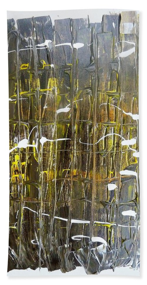 911 Bath Towel featuring the painting Abstract 911 by Martha Mullins
