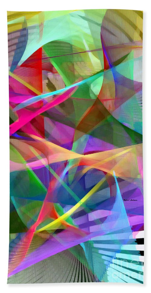 Rafael Salazar Hand Towel featuring the digital art Abstract 9488 by Rafael Salazar