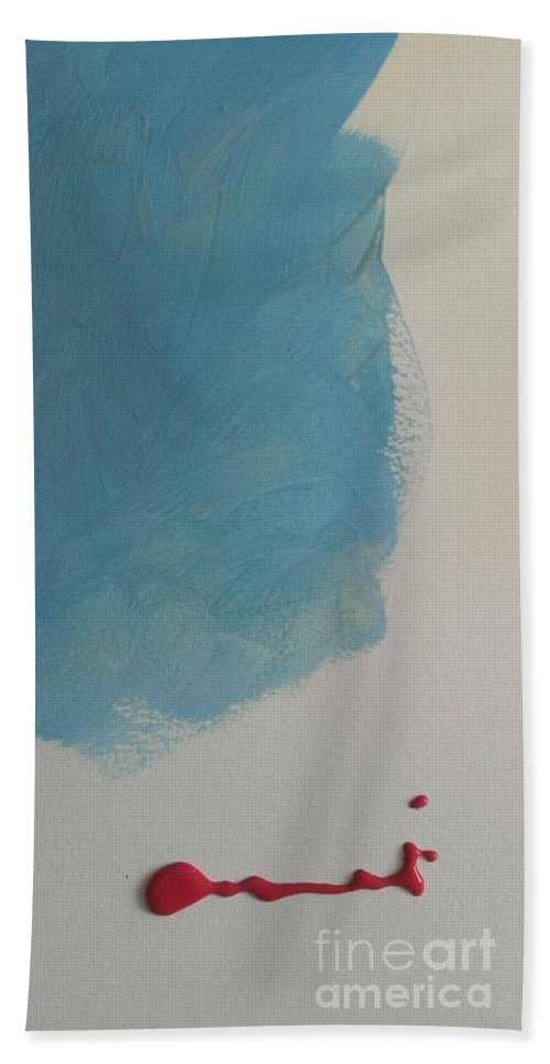 Abstract Hand Towel featuring the painting Abstract Art 4 by LKB Art and Photography