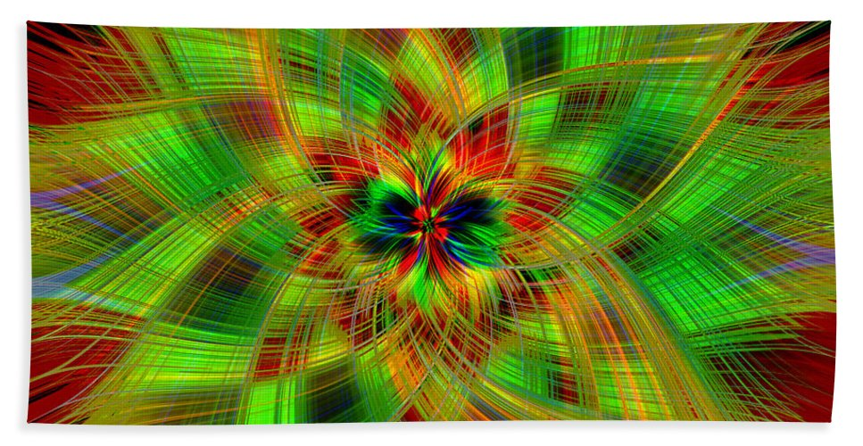 Color Hand Towel featuring the photograph Abstract Art IIi by Connie Mitchell