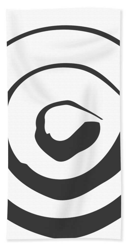 Abstract Bath Towel featuring the digital art Abstract Art Perspective - Circle by Melanie Viola