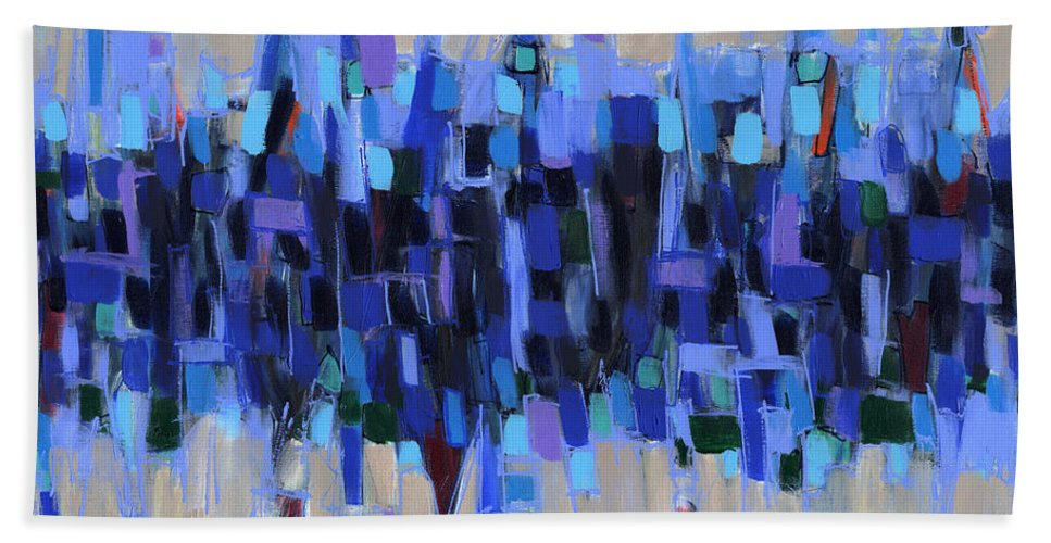 Abstract Hand Towel featuring the painting Abstract Art Twenty-three by Lynne Taetzsch