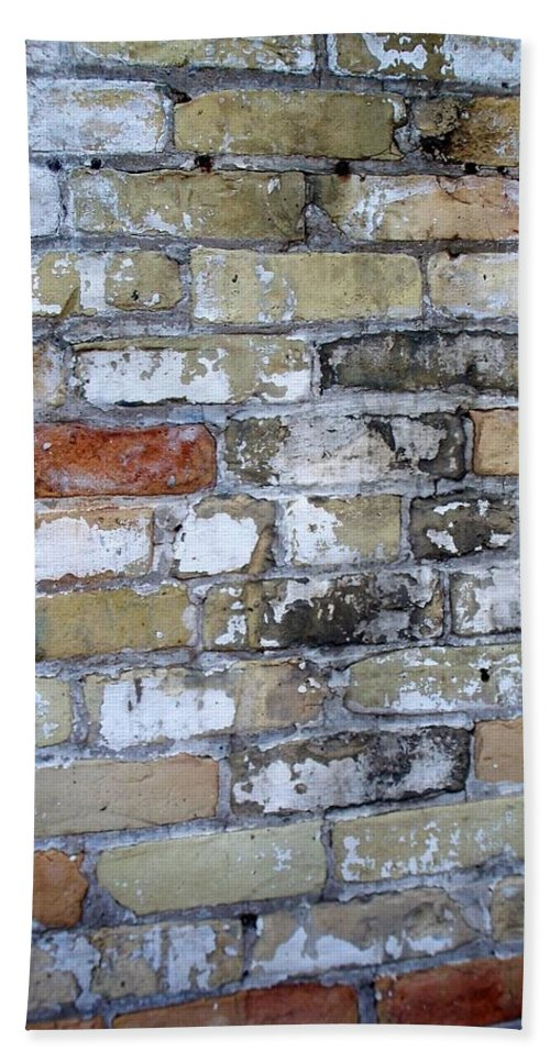 Industrial Bath Towel featuring the photograph Abstract Brick 10 by Anita Burgermeister