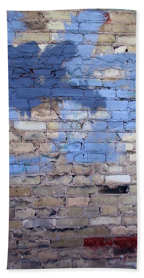 Industrial Bath Towel featuring the photograph Abstract Brick 3 by Anita Burgermeister