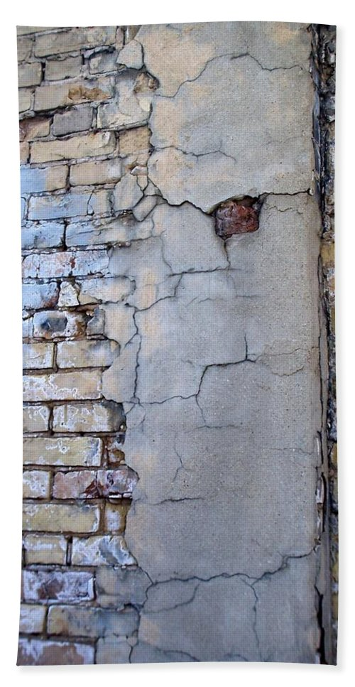 Industrial Bath Sheet featuring the photograph Abstract Brick 4 by Anita Burgermeister
