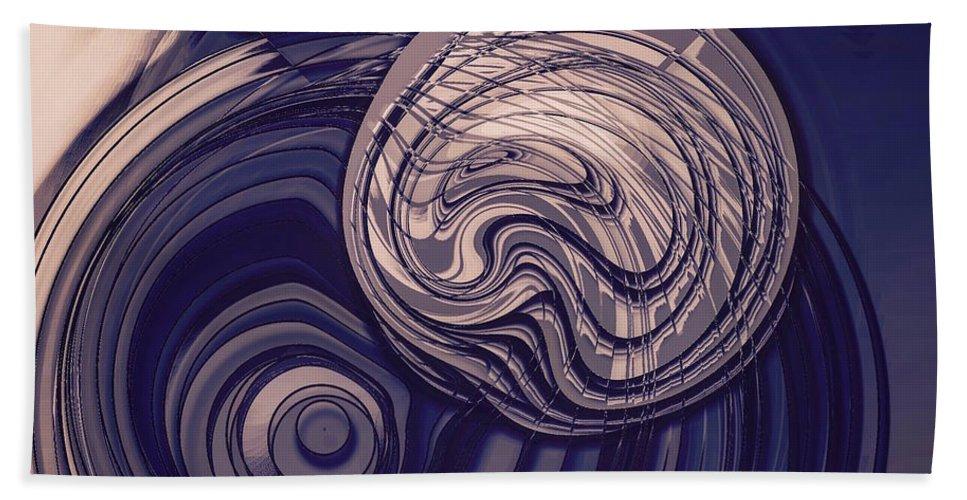 Bubbles Bath Sheet featuring the digital art Abstract Bubbles by Marko Sabotin