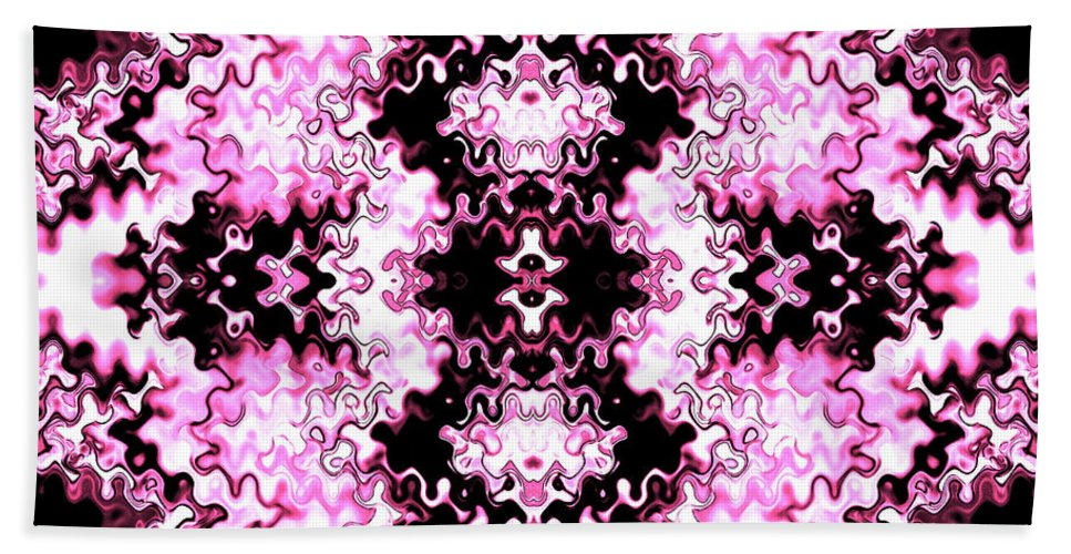 Abstract Hand Towel featuring the photograph Pink And Black Design by Elizabeth Abbott
