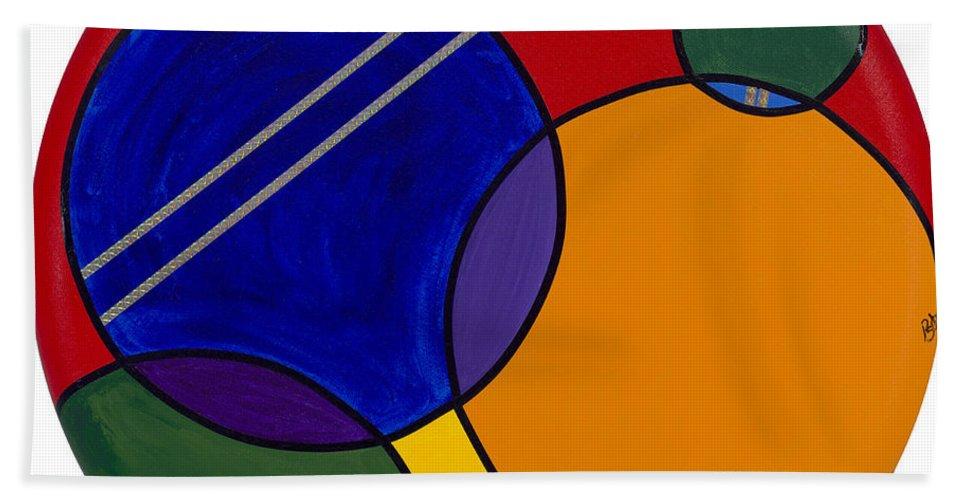 Circles Bath Sheet featuring the painting Abstract Circle 3 by Patty Vicknair