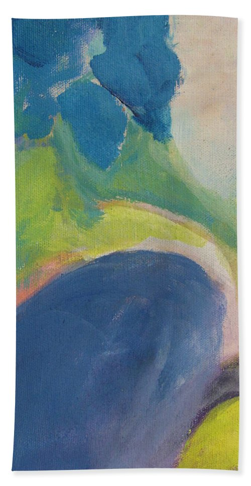 Abstact Bath Sheet featuring the painting Abstract Close Up 12 by Anita Burgermeister