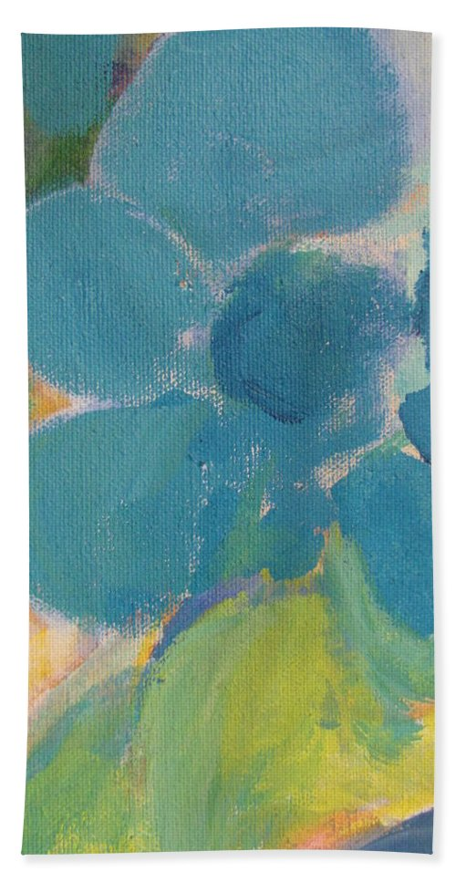 Abstact Bath Sheet featuring the painting Abstract Close Up 9 by Anita Burgermeister