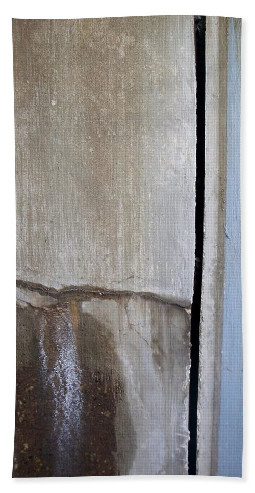 Industrial. Urban Hand Towel featuring the photograph Abstract Concrete 1 by Anita Burgermeister