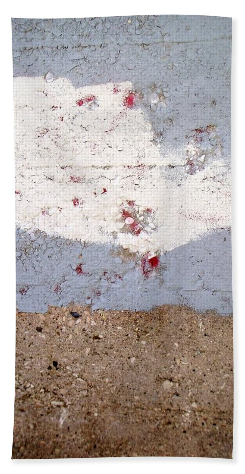Industrial. Urban Hand Towel featuring the photograph Abstract Concrete 13 by Anita Burgermeister
