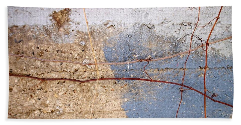 Industrial. Urban Bath Towel featuring the photograph Abstract Concrete 15 by Anita Burgermeister