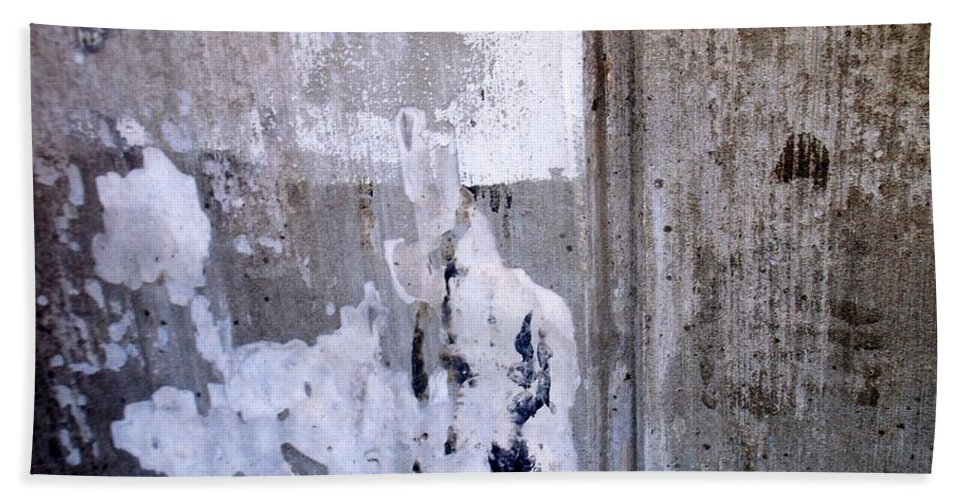 Industrial. Urban Hand Towel featuring the photograph Abstract Concrete 9 by Anita Burgermeister